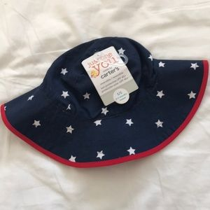 Carter's red/white/blue hat. Size 0-3 mo. NWT.